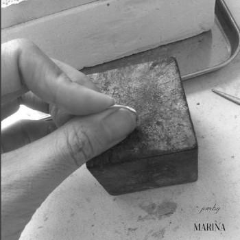 指輪 制作中