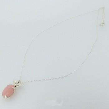 ピンクオパール ネックレス
