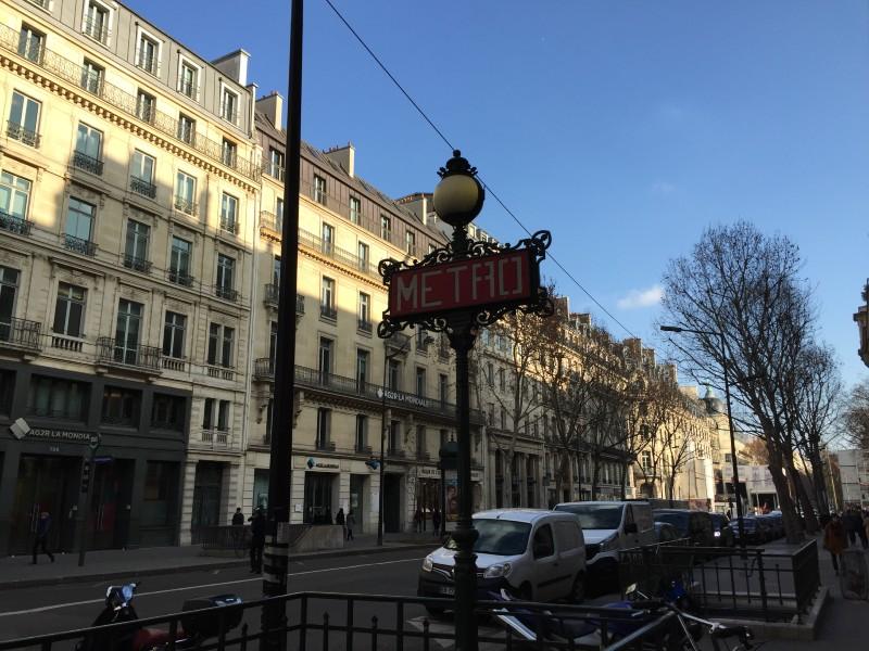 パリ フランス メトロ